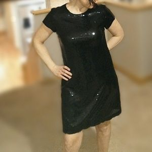 Nicole Miller sequined a line minidress
